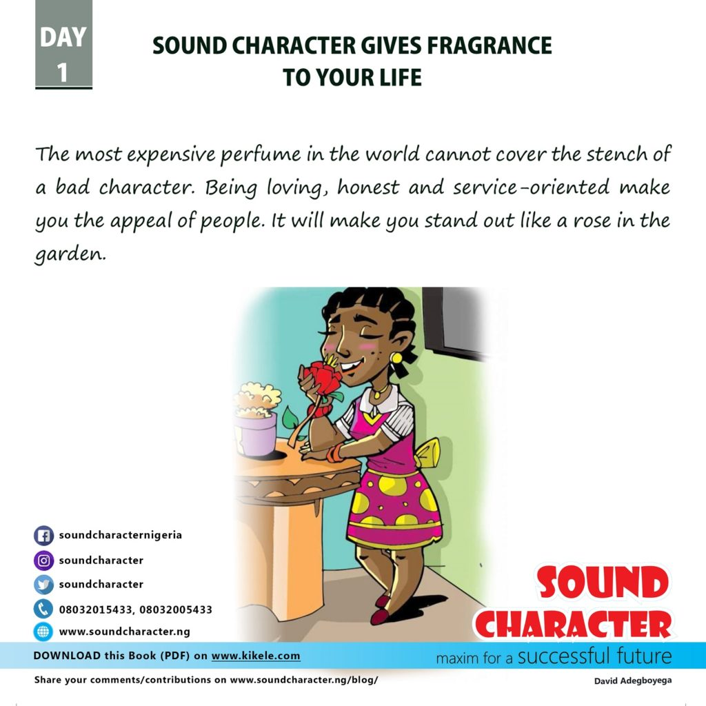 Sound Character, Maxim for a Successful Future by David Adegboyega